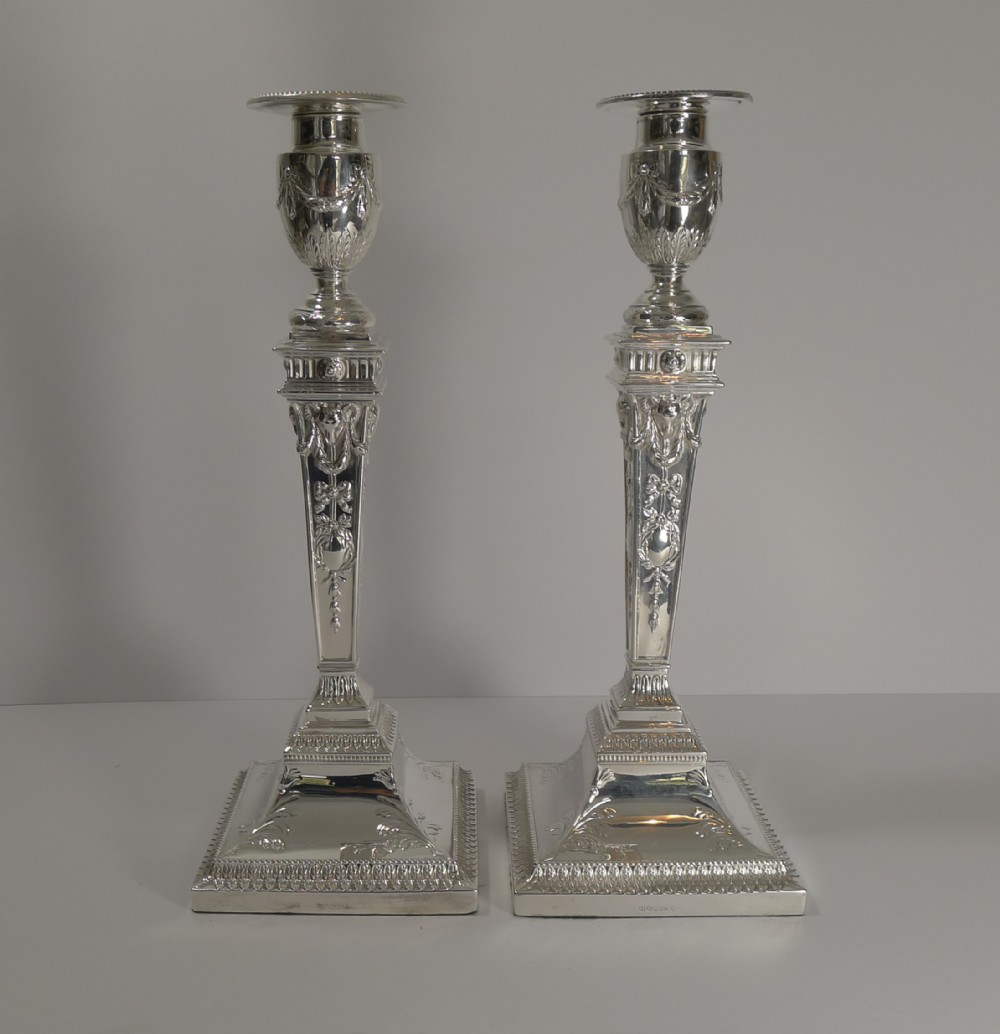 antique english silver plated candlesticks c1870 rams heads