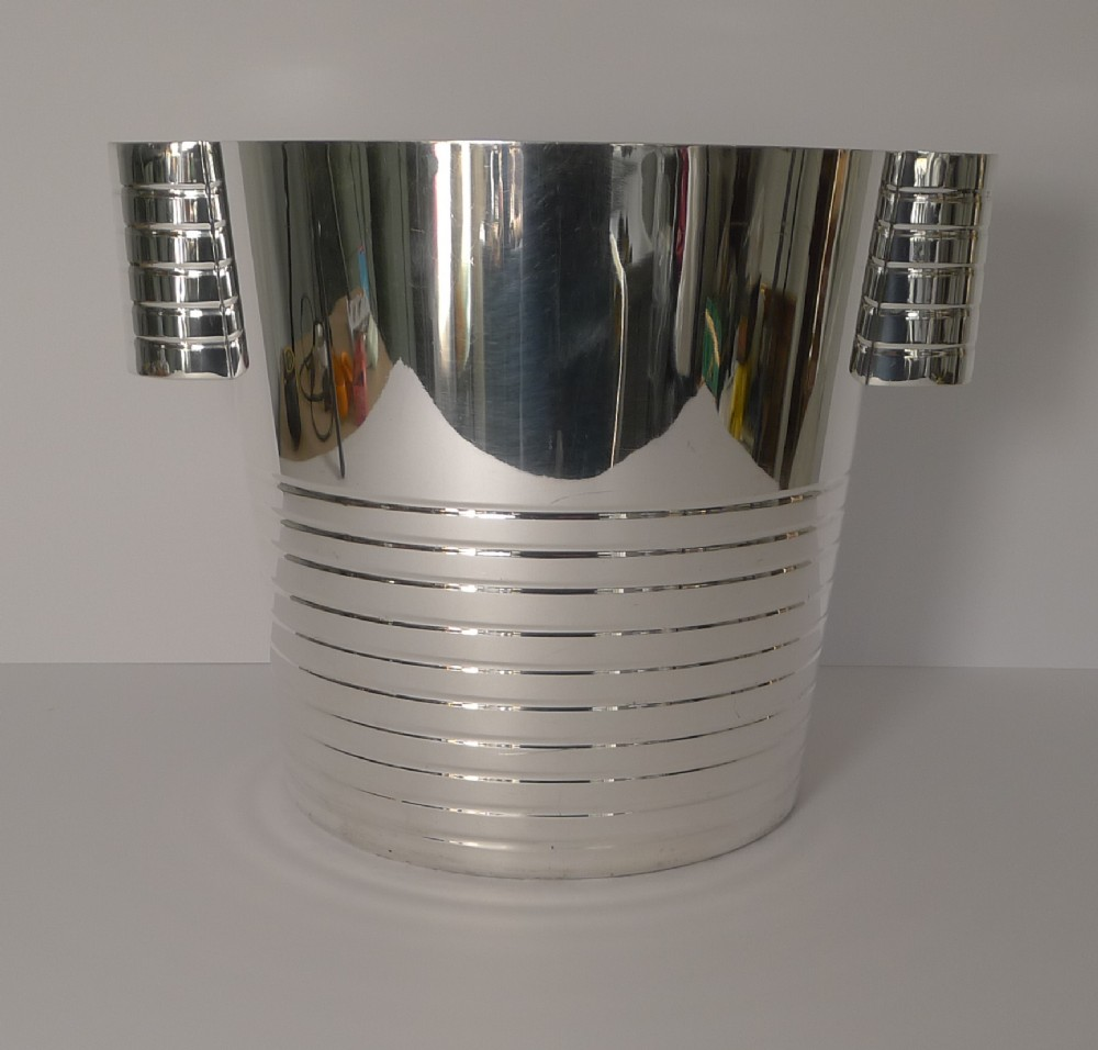 english art deco silver plated wine cooler champagne bucket c1930