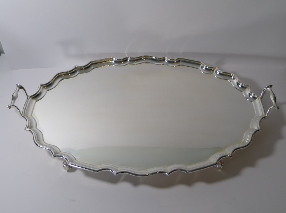 grand antique english serving drinks tray by mappin webb c1899