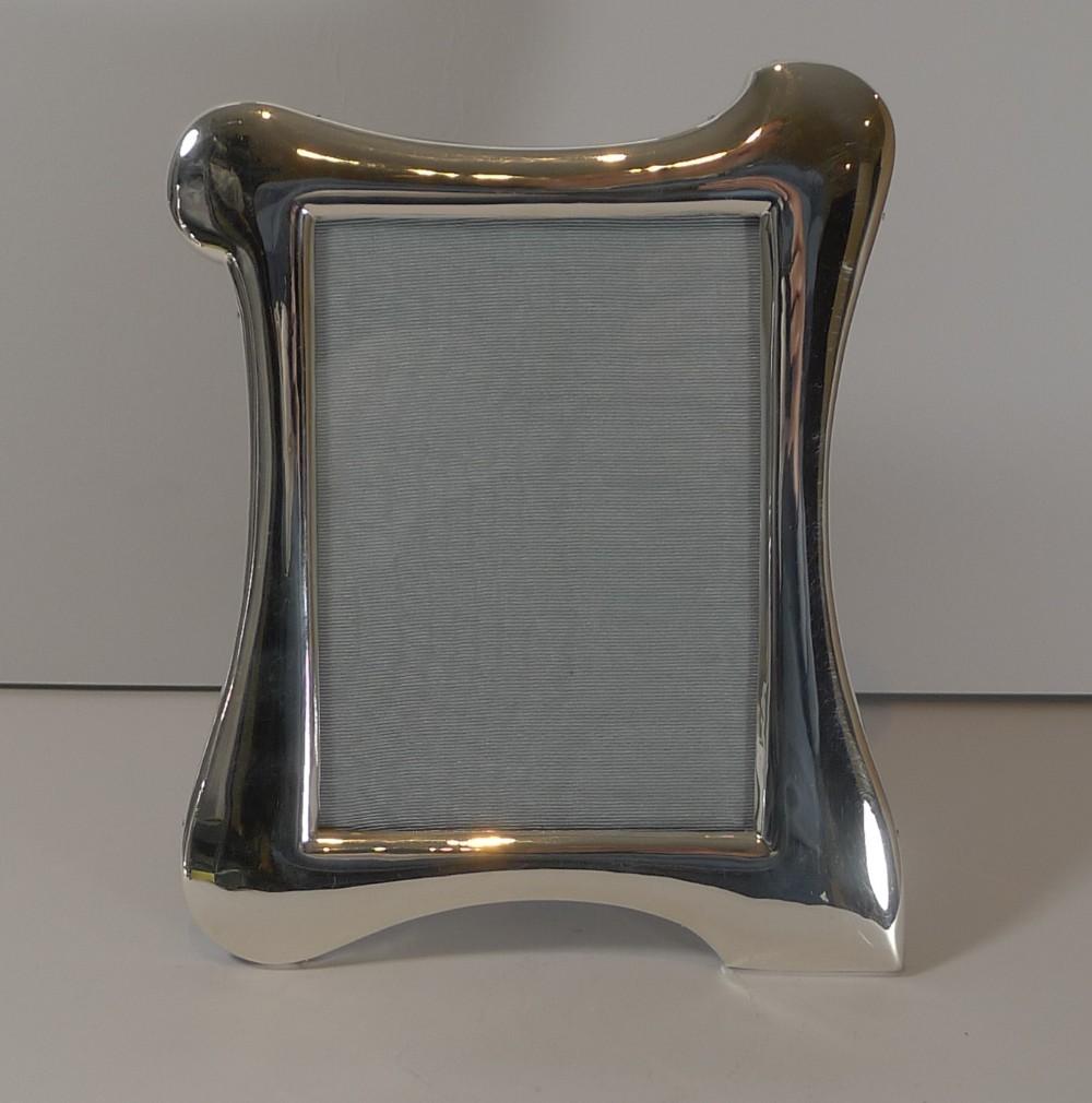 antique english art nouveau sterling silver picture frame 1912