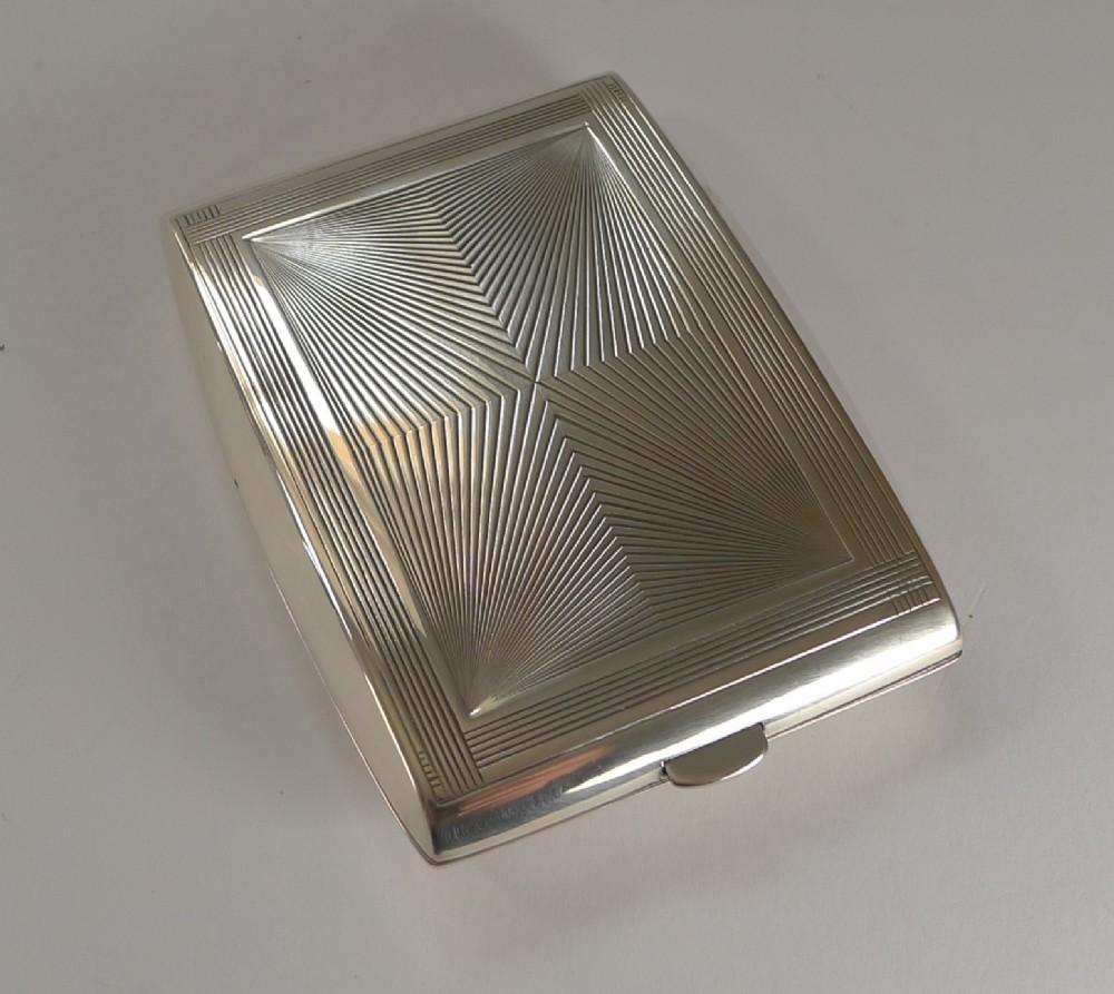 puiforcat sterling silver cigarette case perfect business card case c1930