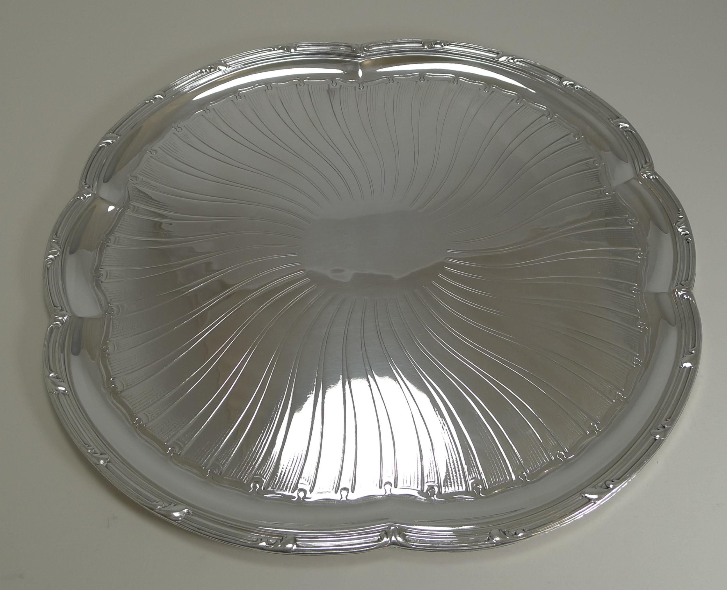 antique french christofle silver plated tray c1896 art nouveau