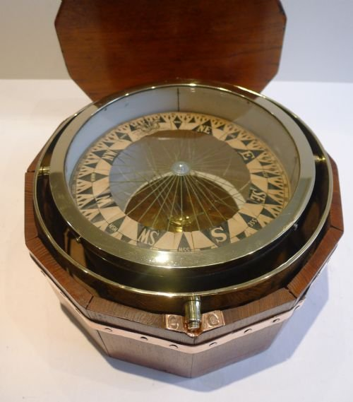 important large antique maritime dry card compass sir william thomson lord kelvin