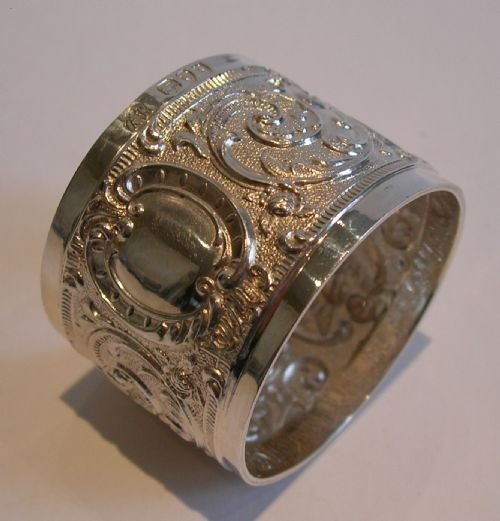 stunning antique sterling silver napkin ring
