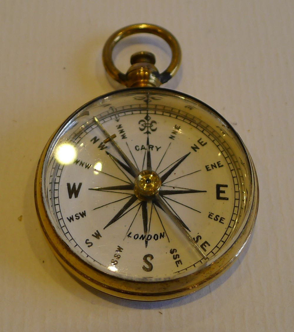 Superb English Georgian Pocket Compass Signed Cary London ...