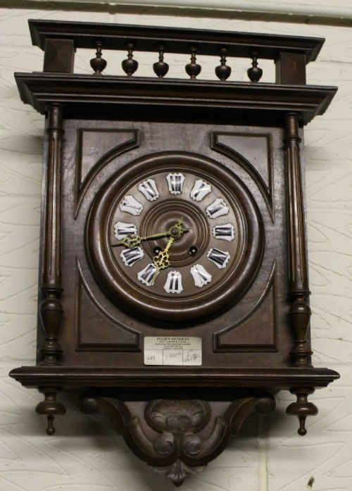 1900 39 s vintage french carved country wall clock 442457