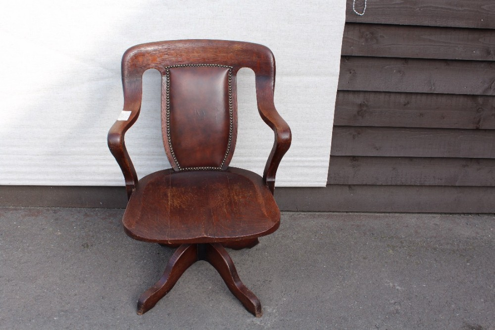 1920 39 S Leather Oak Office Chair 429678
