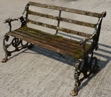 Antique Coalbrookdale 39 Serpent Grape 39 Pattern Cast Iron Garden Bench 237205 Sellingantiques
