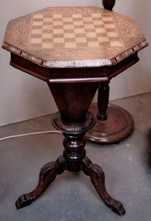 octagonal sewing table 159196. Black Bedroom Furniture Sets. Home Design Ideas