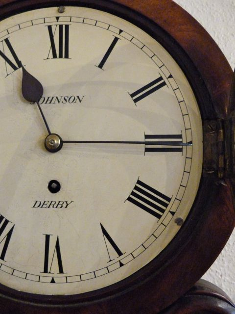 Bathroom Wall Clocks: A Pretty Small Mahogany Wall Clock