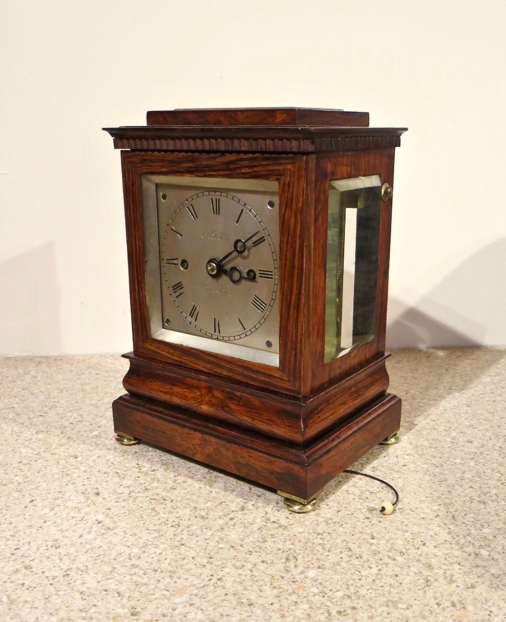 Very Small Twin Fusee Four Glass Clock 451763