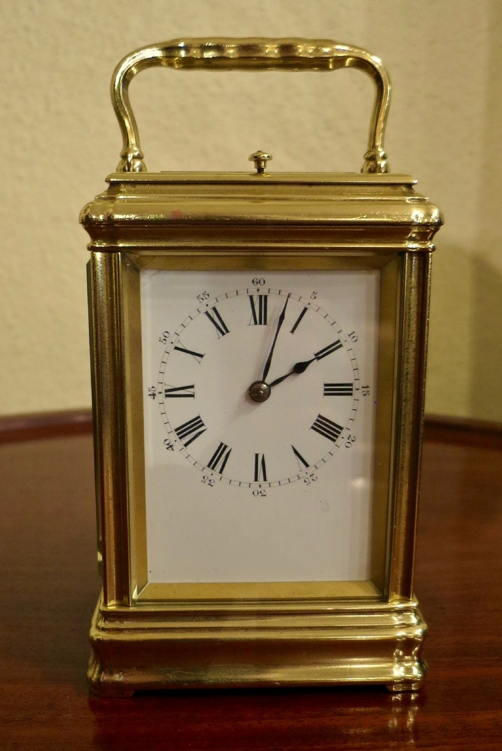 french repeating carriage clock by drocourt