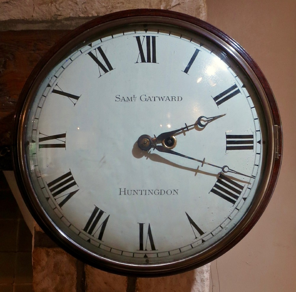 good early 19th century convex wall clock
