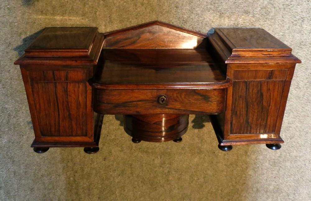 fine sideboard tea caddy in rosewood