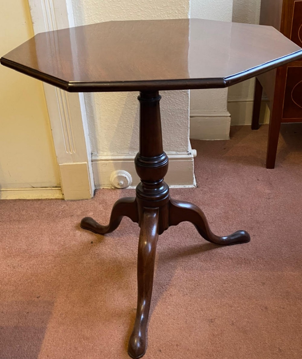 late 18th century octagonal tilttop occasional table