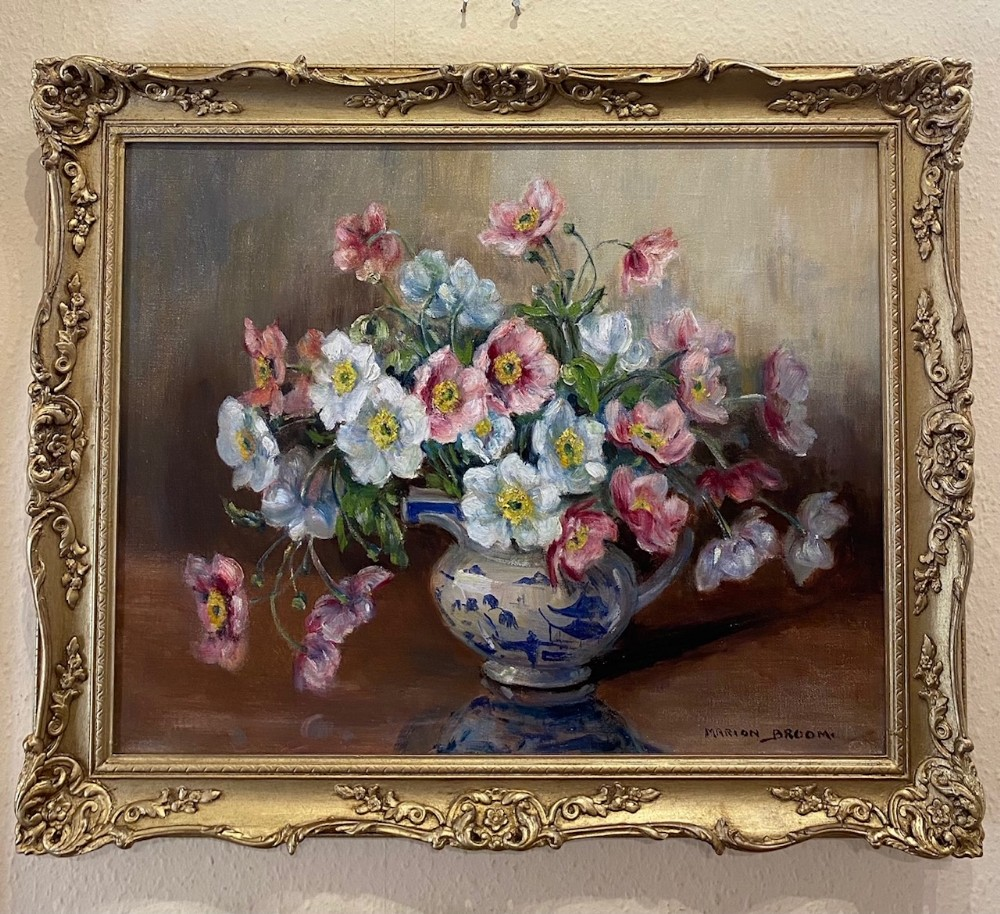 oil on canvas a floral study by marion broom 18781962