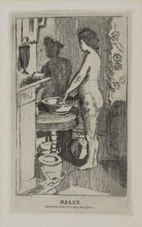 walter richard sickert etching sally the small plate
