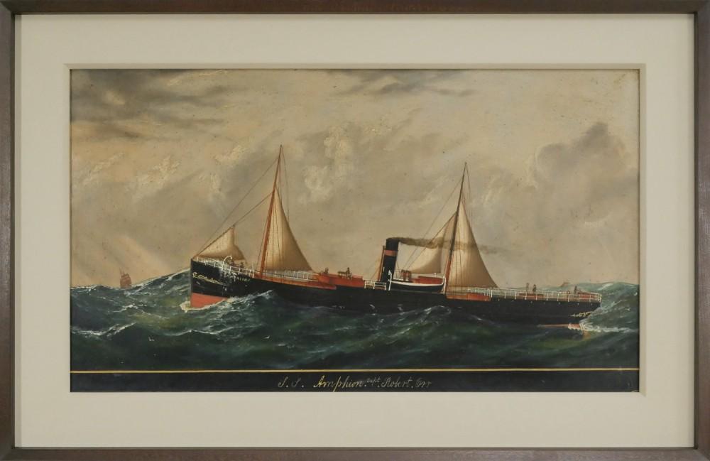 oil painting ss amphion capt robert orr circa 1920 british marine school
