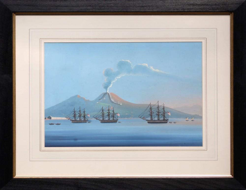 british war ships anchored off the bay of naples neapolitan school 19th c