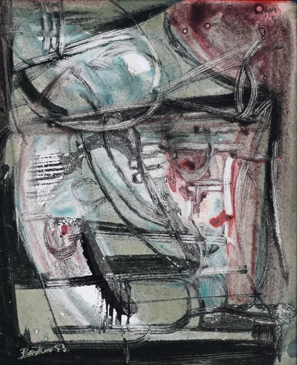 kit barker 19161988 abstract composition dated 1953