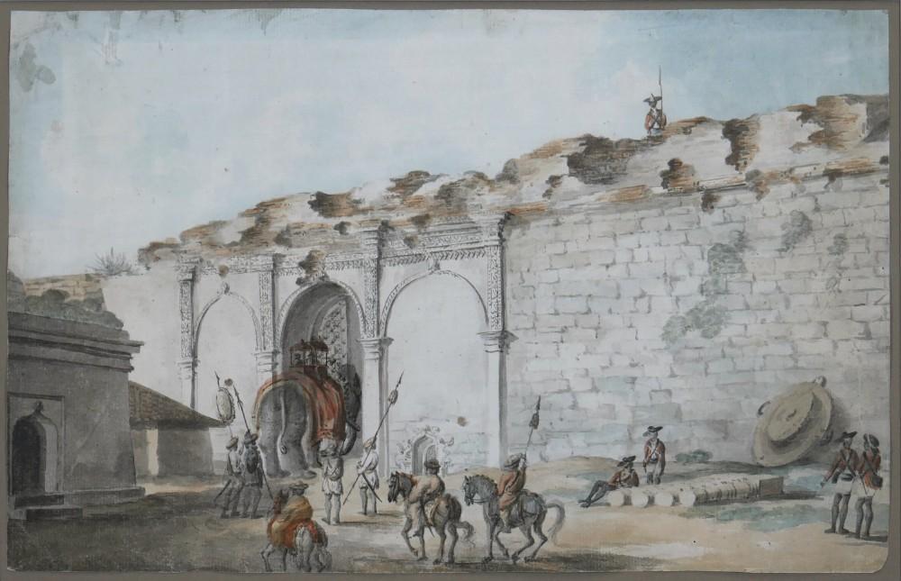 the delhi gate of bangalore by lieutenant james hunter c17551792 watercolour painted 17911792