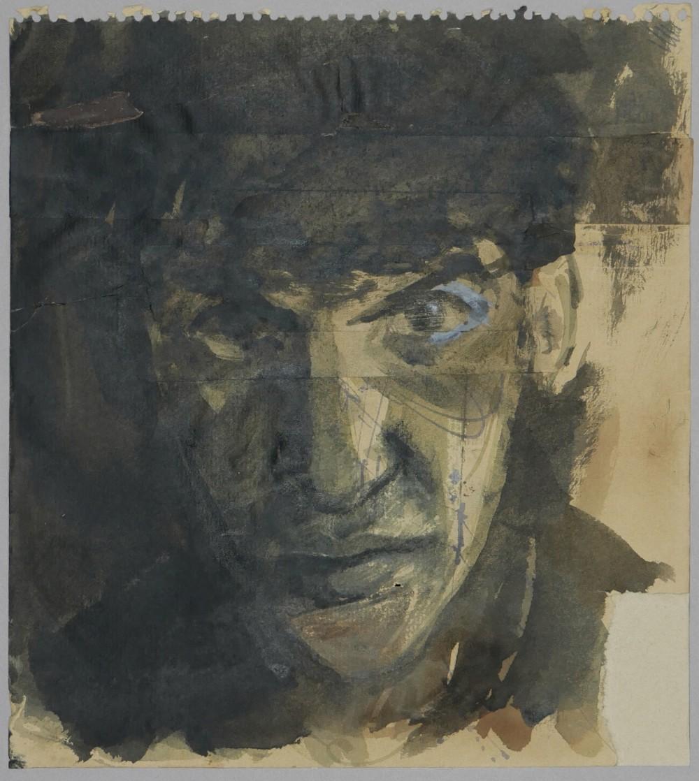 self portrait biggin hill 1958 and portrait verso by john sergeant 19372010