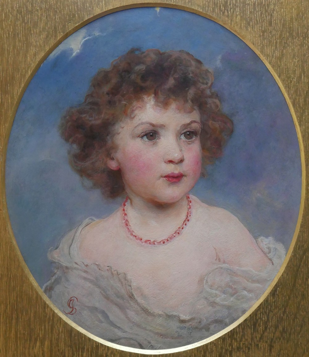 oil painting by james sant 18201916 sybil eldest daughter of a j webbe esq