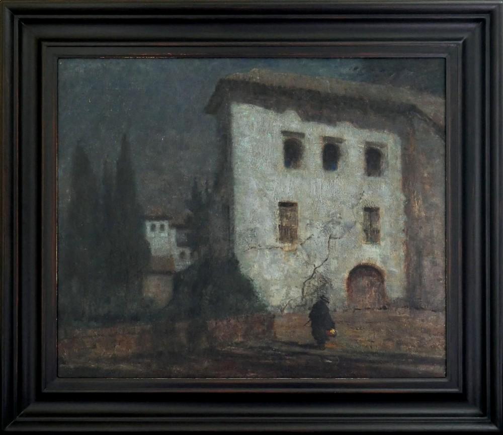 oil painting by albert moulton foweraker 18731942 the generalife granada