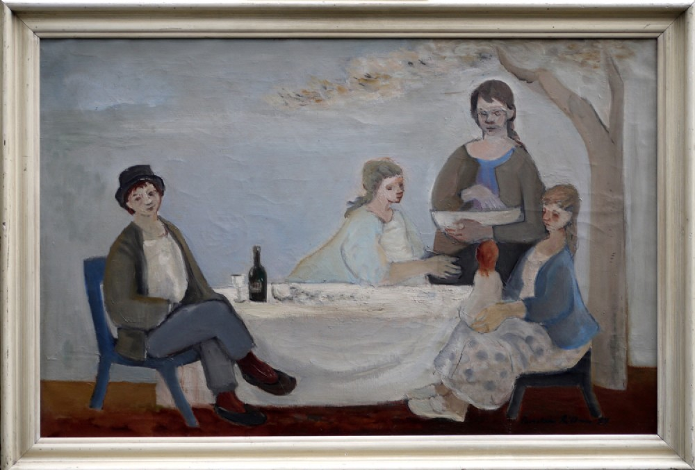 oil painting by thorstein rittun norway 19292018 dated 1954