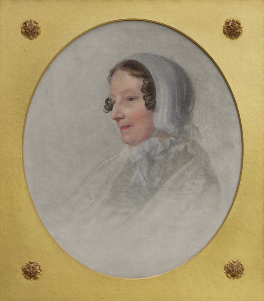 charming early english portrait oil on canvas c1830