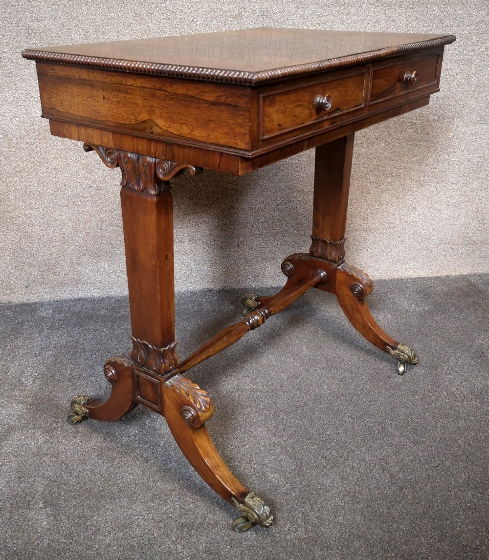 early 19th century free standing rosewood table