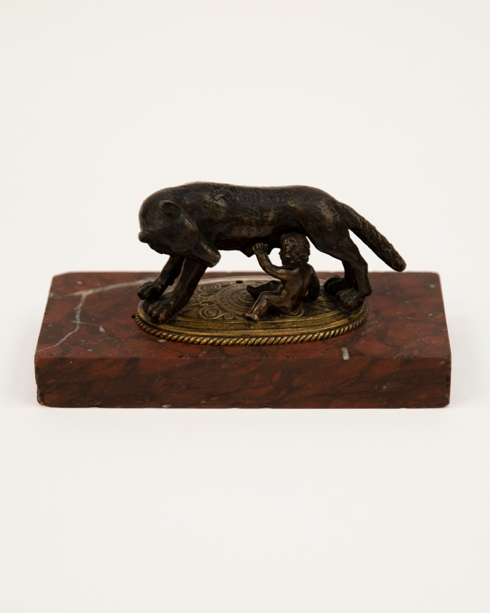 a grand tour capitoline wolf bronze sculpture
