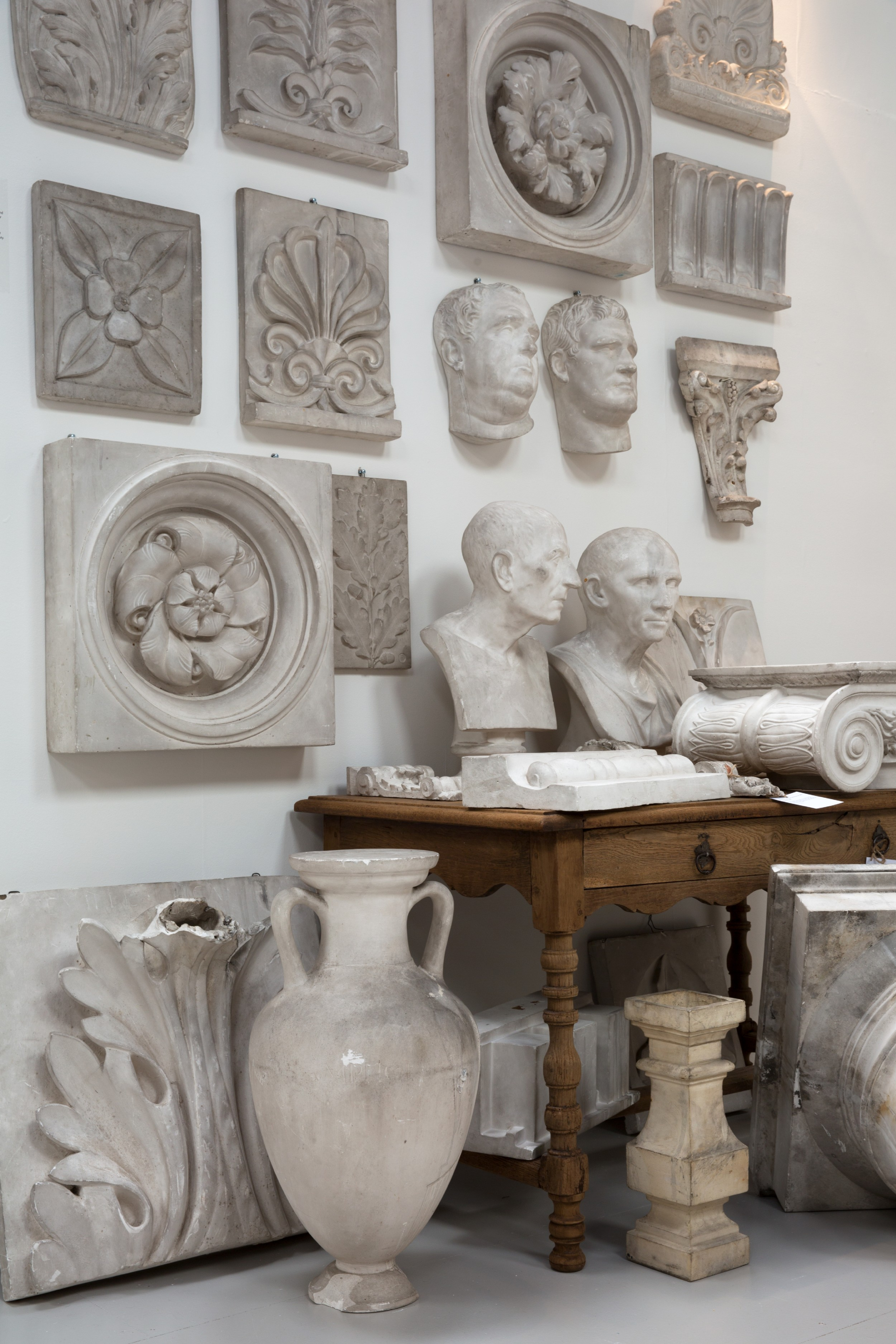 29 piece plaster cast collection ca 1870