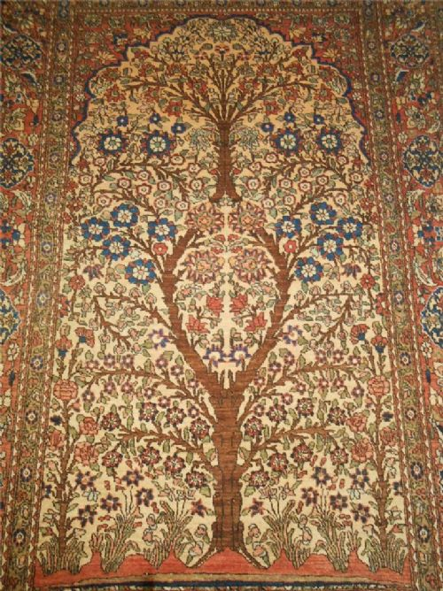 Isfahan Prayer Rug Central Persia Tree Of Life Design