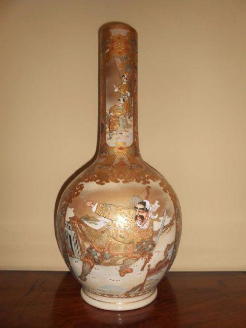 Substantial 19th Century Japanese Satsuma Bottle Vase 353680 Sellingantiques Co Uk