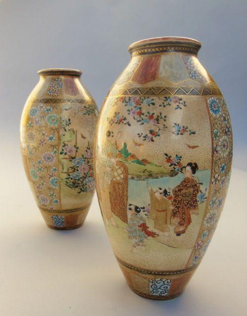 Antique Satsuma Vases The Uks Largest Antiques Website