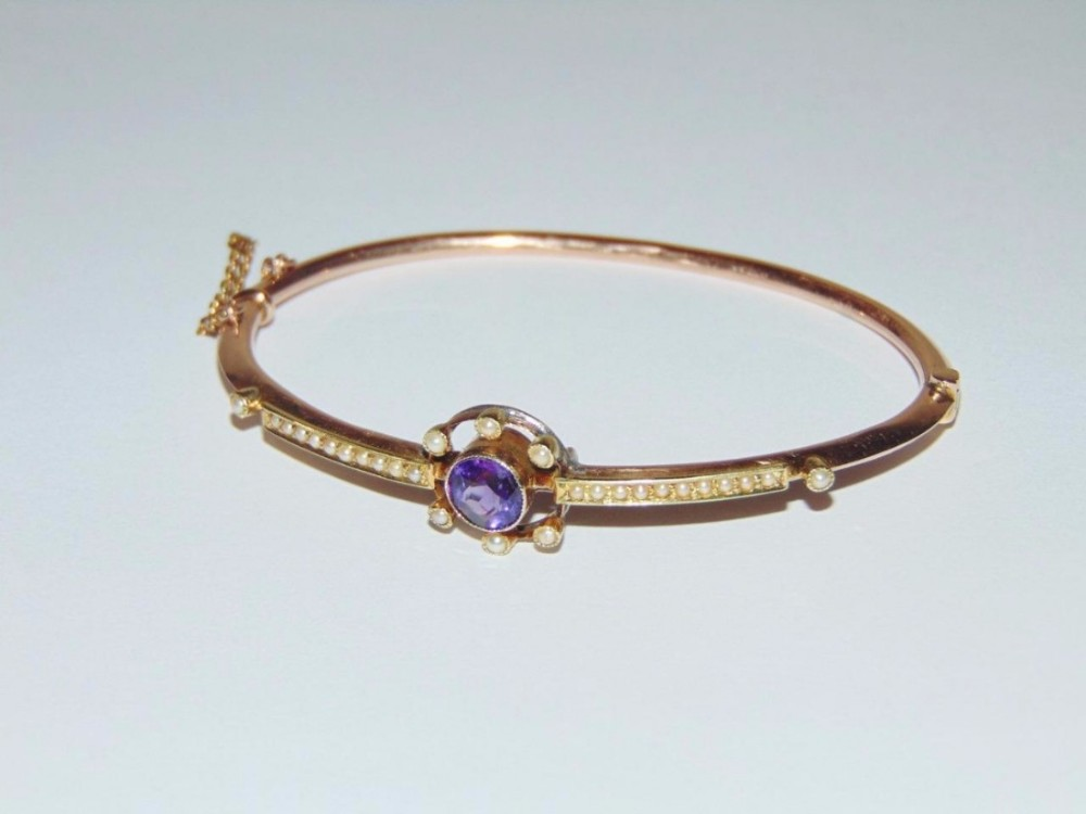 jewelry amethyst bangle gems in silver rose cut j with bangles rainbow diamond rhodium sar moonstone sterling black plating victorian