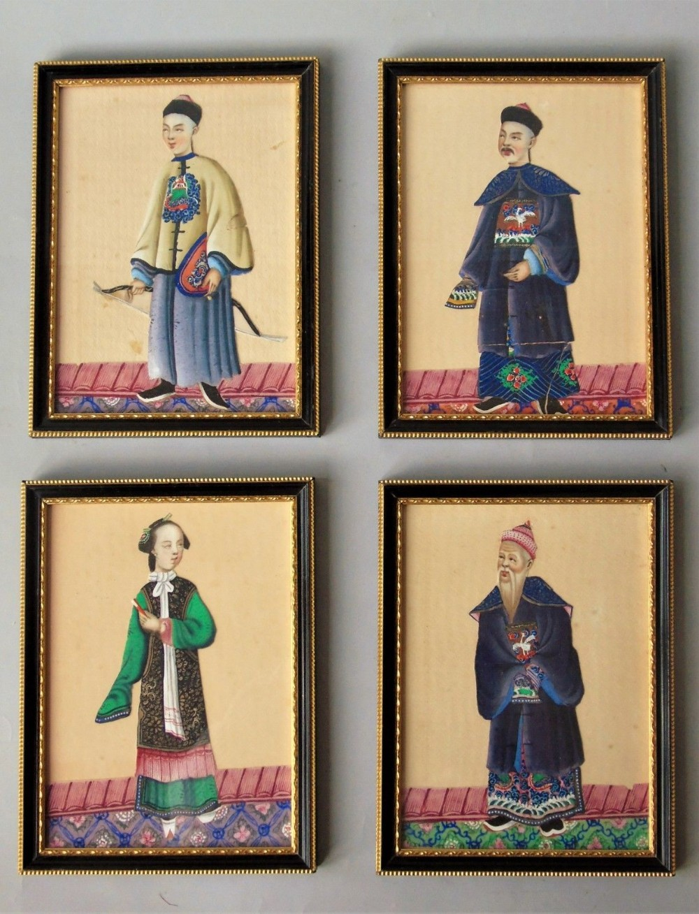 484efb3db3073 Chinese Paintings Portraits On Pith Set Of 4 19th Century | 593538 ...