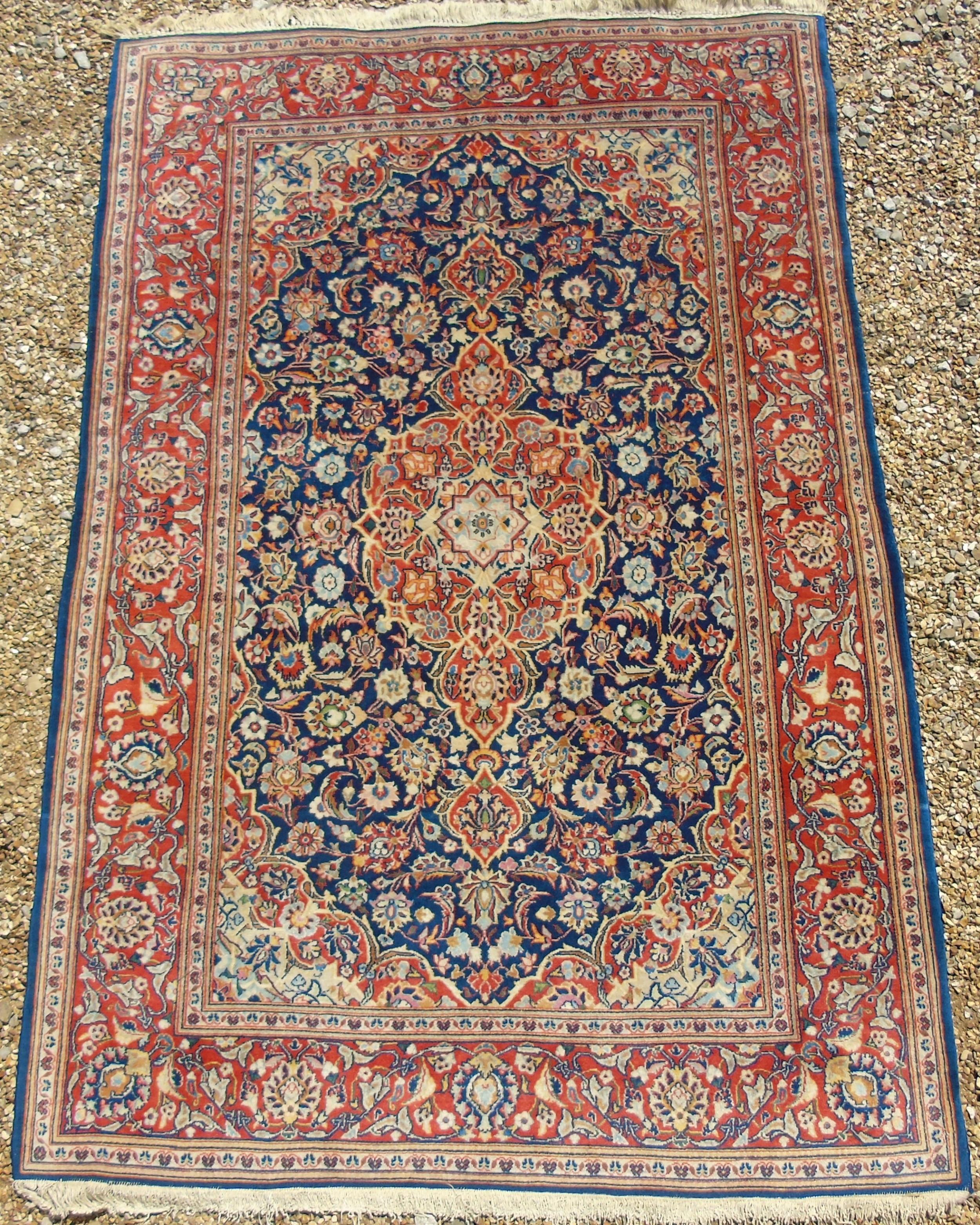 antique bakhtiari carpet