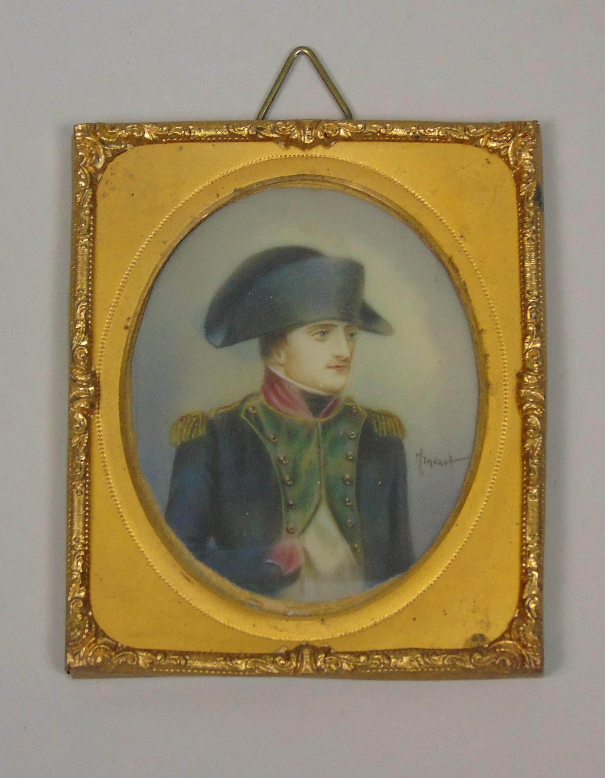 antique miniature portrait napoleon