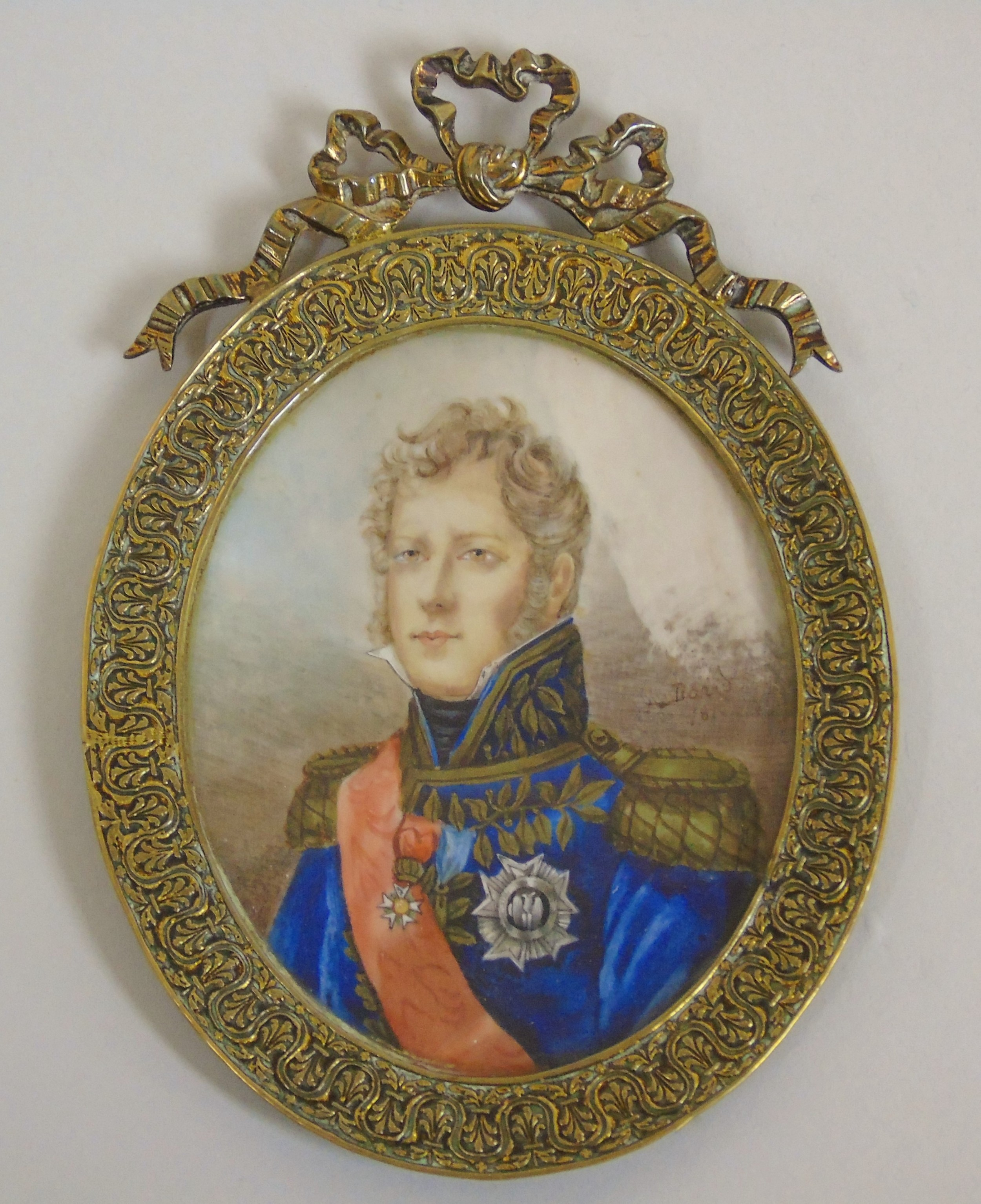 outstanding portrait miniature marshall of the empire michel ney
