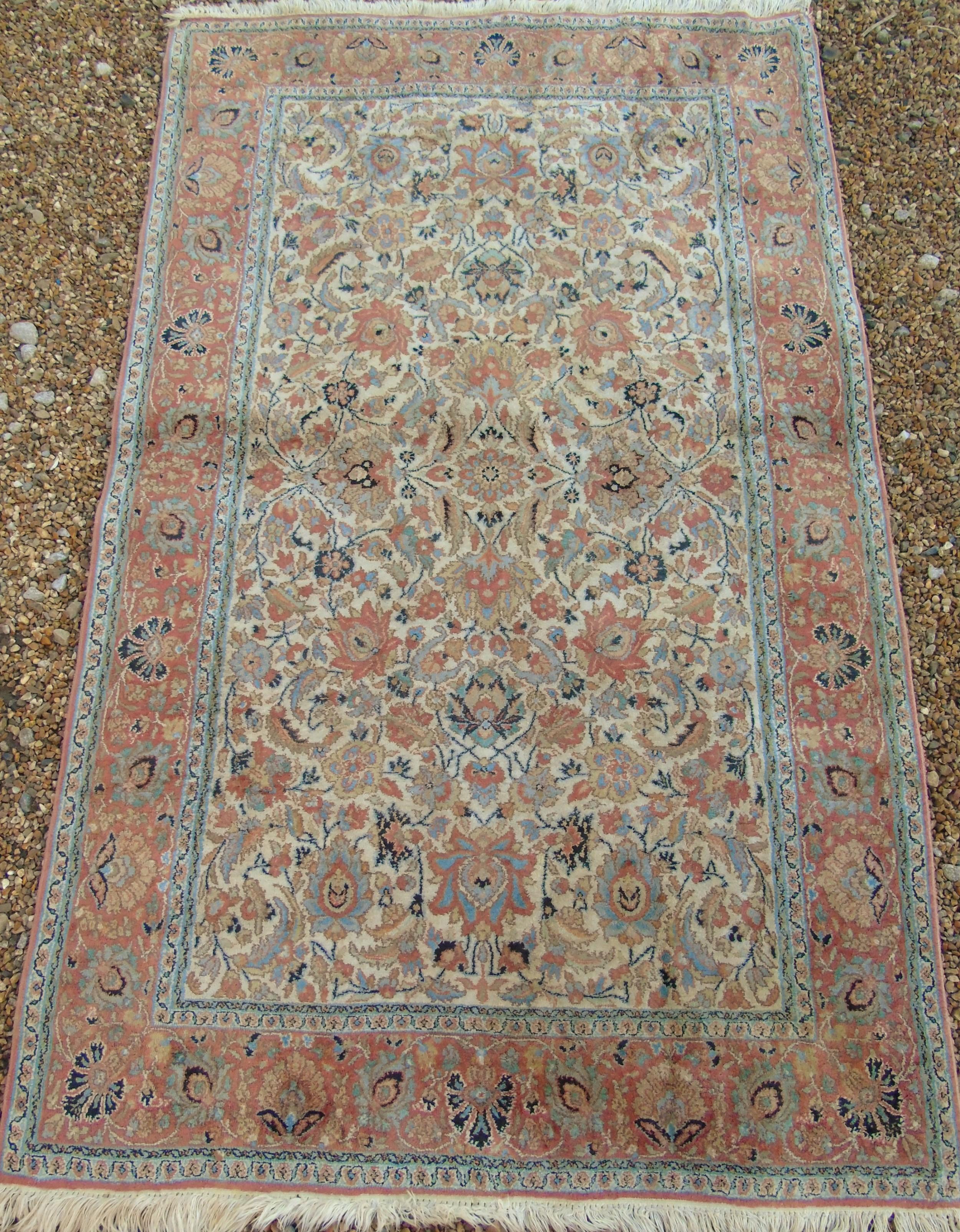 antique silk carpet
