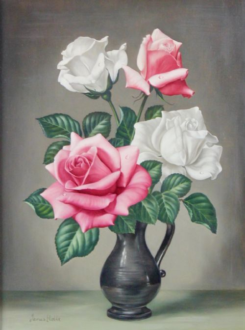 'the last of summer james noble oil painting still life