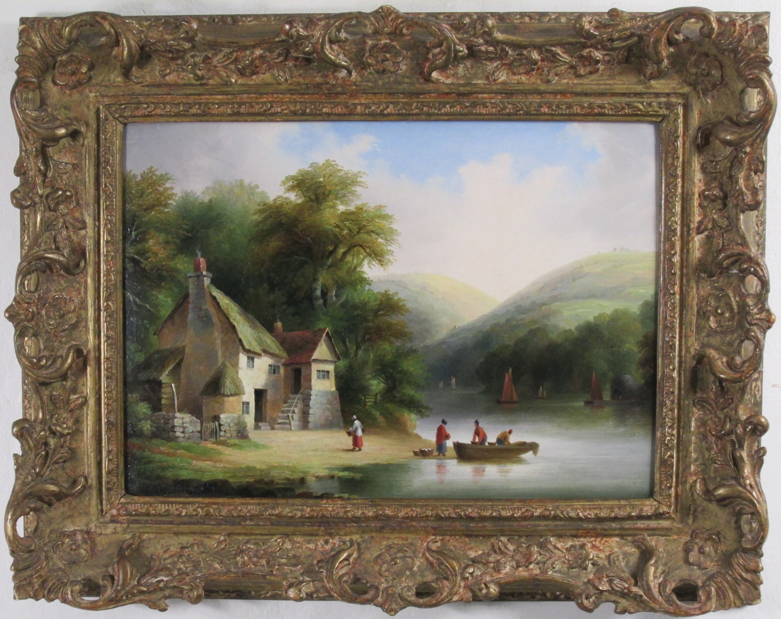 pair river dart dartsmeet john wallace tucker totnes landscape
