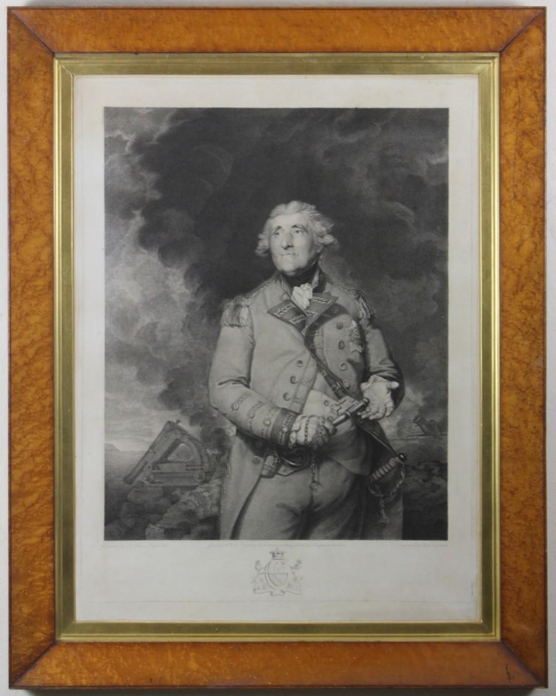 governor of gibralta lord heathfield seige of gibralta 18th century stipple engraving