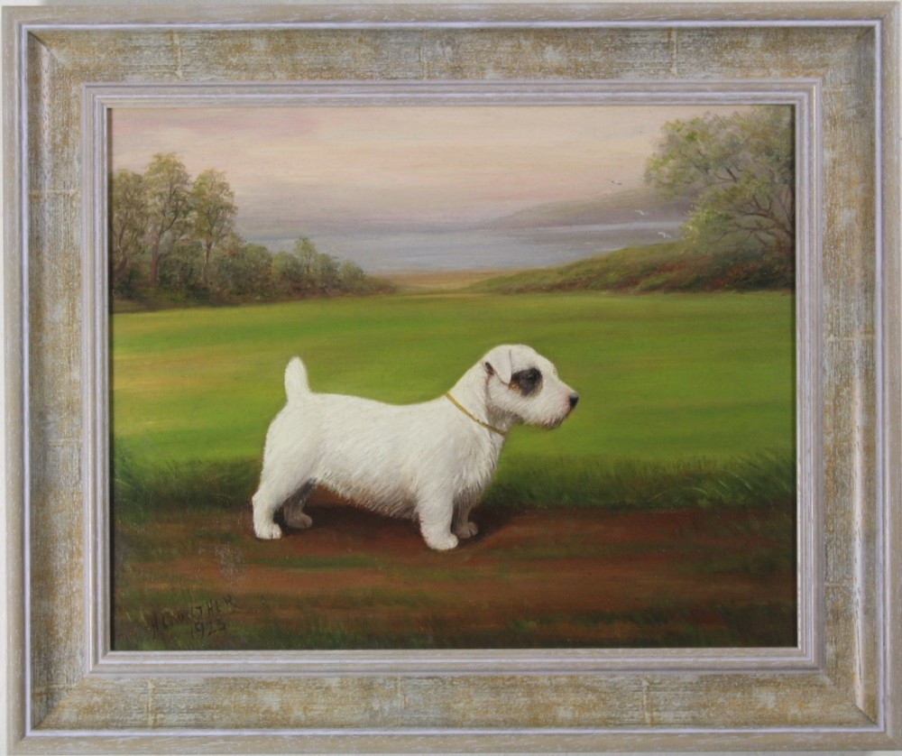 sealyam terrier oil painting henry crowther dog portrait