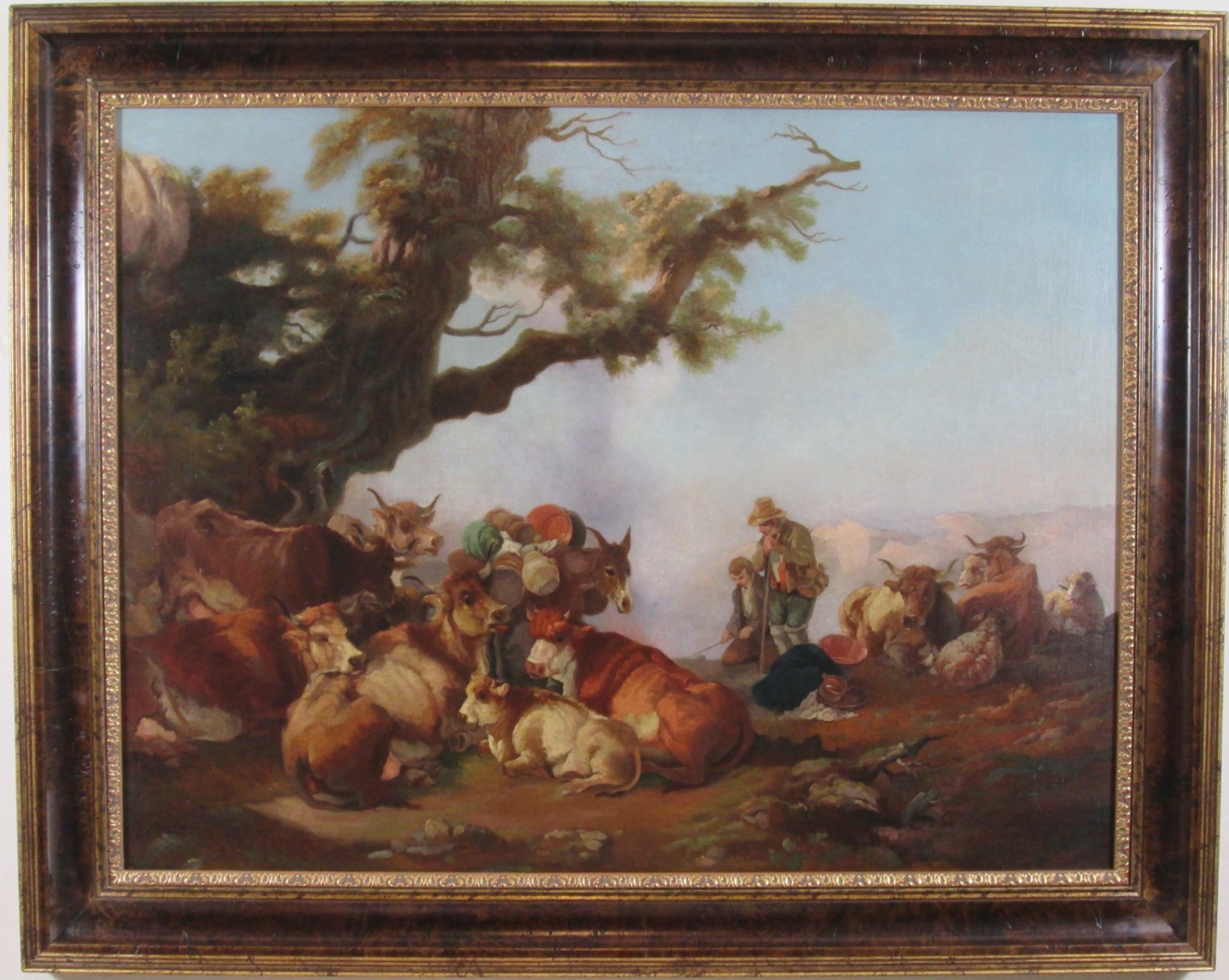 resting by the campfire style of dirk van bergen 1645 1690 oil painting