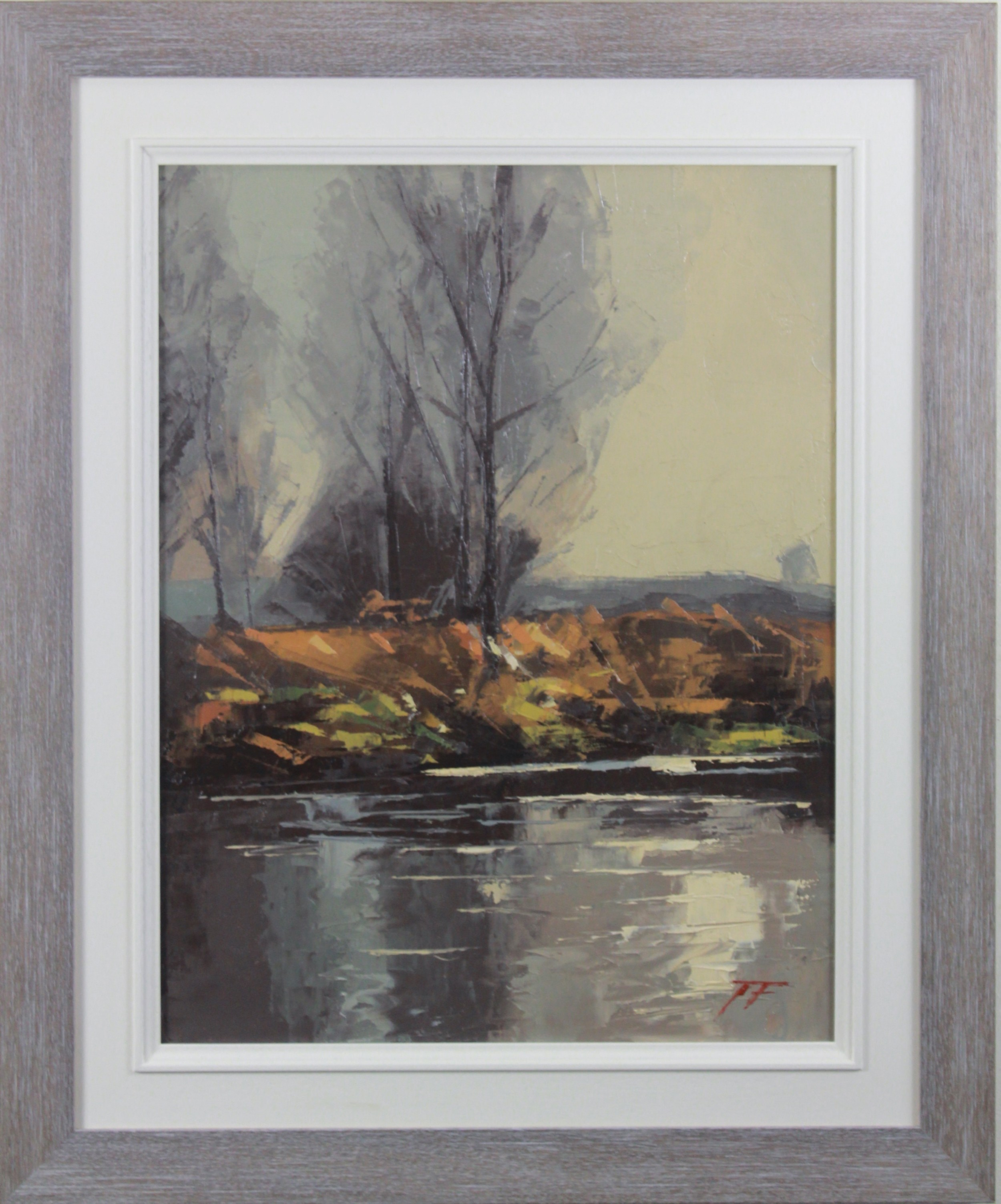 river frome dorset james fry oil painting on board landscape