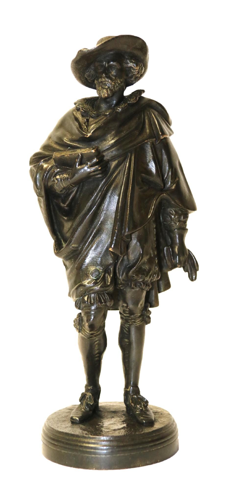 a bronze study of van dyck signed salmson