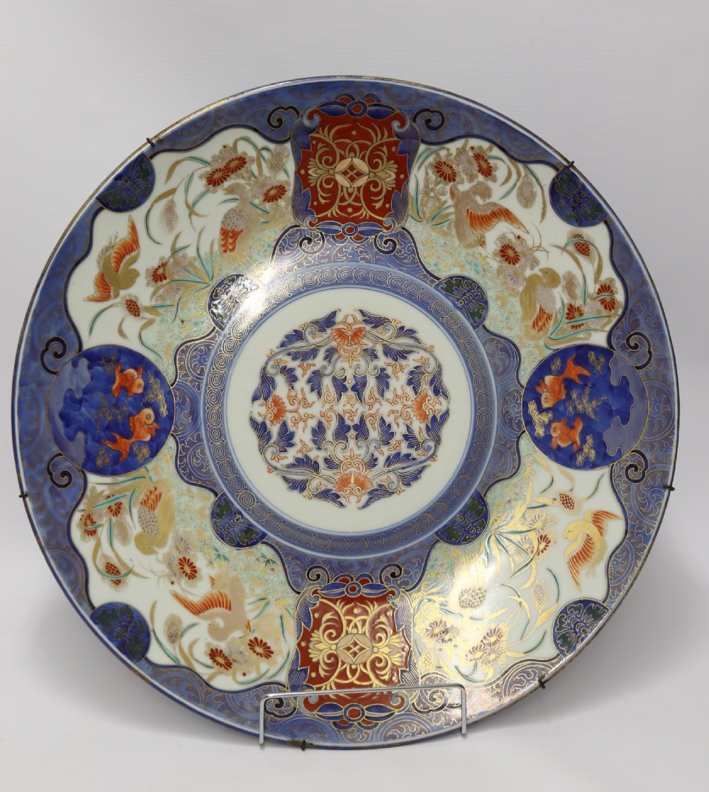 japanese meiji period hand painted porcelain charger circa 1890